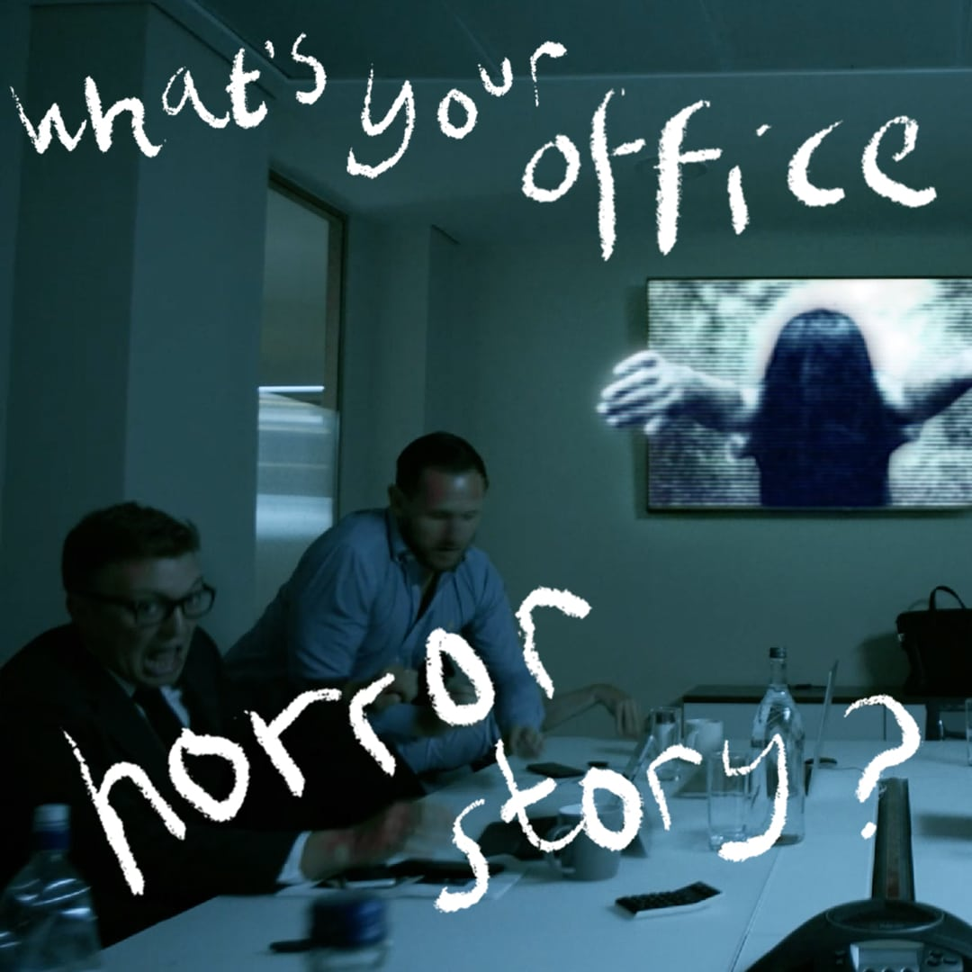 #Halkinween Video - finally, a meeting room provider with decent AV! Halkin Offices short film campaign.